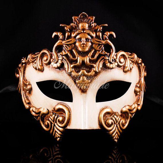 Greek Venetian Masquerade Mask Roman Warrior by 4everstore