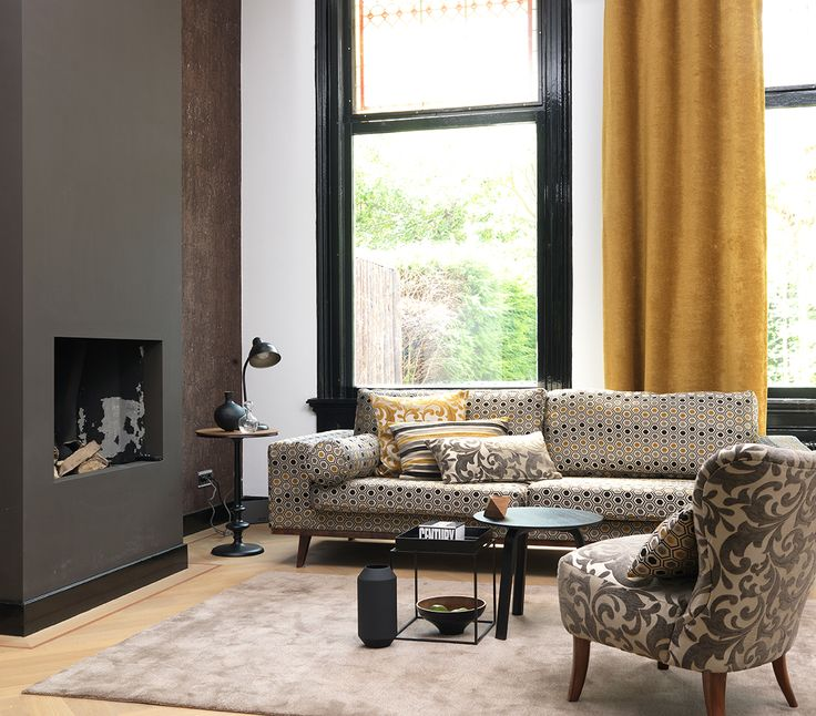 Oak Brown sets the stage for a chic and modern décor statement, when used as a backdrop for yellow tones. A great combination for an upholstery set, when combined with black, that transforms a classic space to a contemporary den. #DDecor #Oak #DDecorDiaries #AsYouLikeIt
