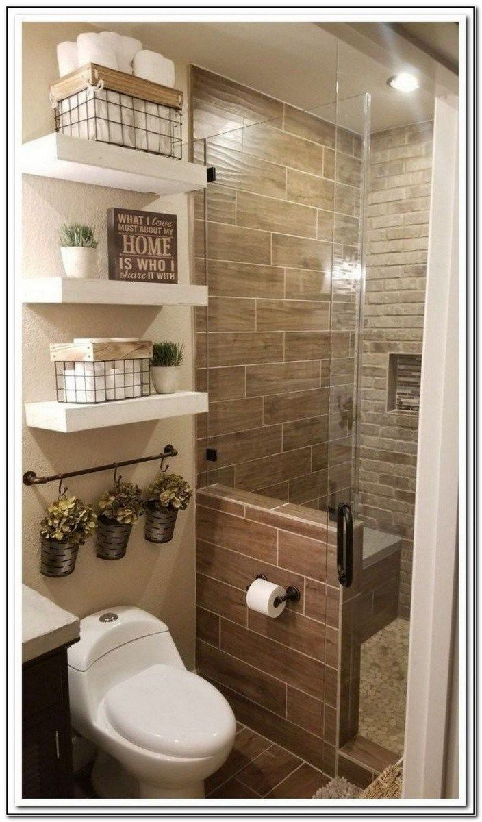 60 Design Ideas To Inspire Suprising Remodel Small Bathrooms On A Budget Bathroomdecor Farmhouseba Bathroom Decor Apartment Simple Bathroom Bathrooms Remodel