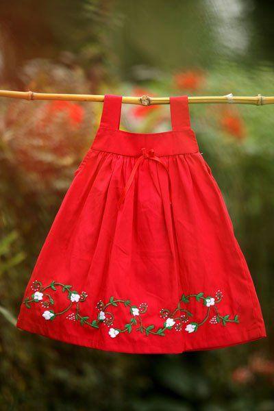 Breezy Bright Red Dress