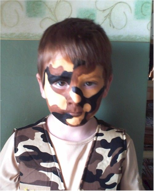 DIY Camo Face Paint #Tai's party