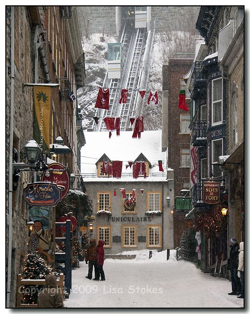 Christmas in Place Royale, Quebec, Canada
