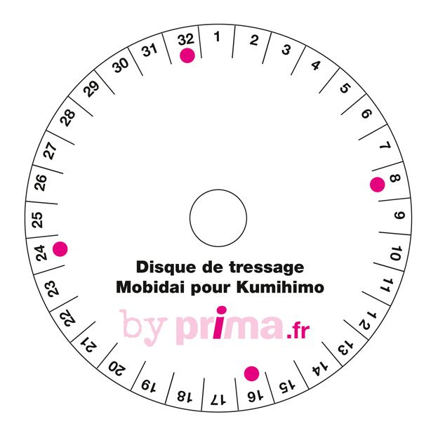 Gratuit : comment faire un disque pour bracelets Kumihimo