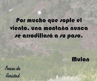 Frases de amistad disney de Mulan