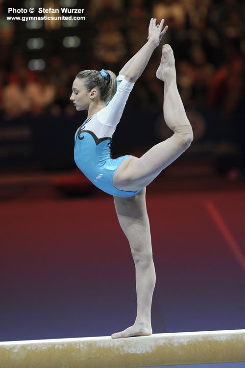 Ana Porgras (Russia) on balance beam at the 2011 Swiss Cup  #mindsshots