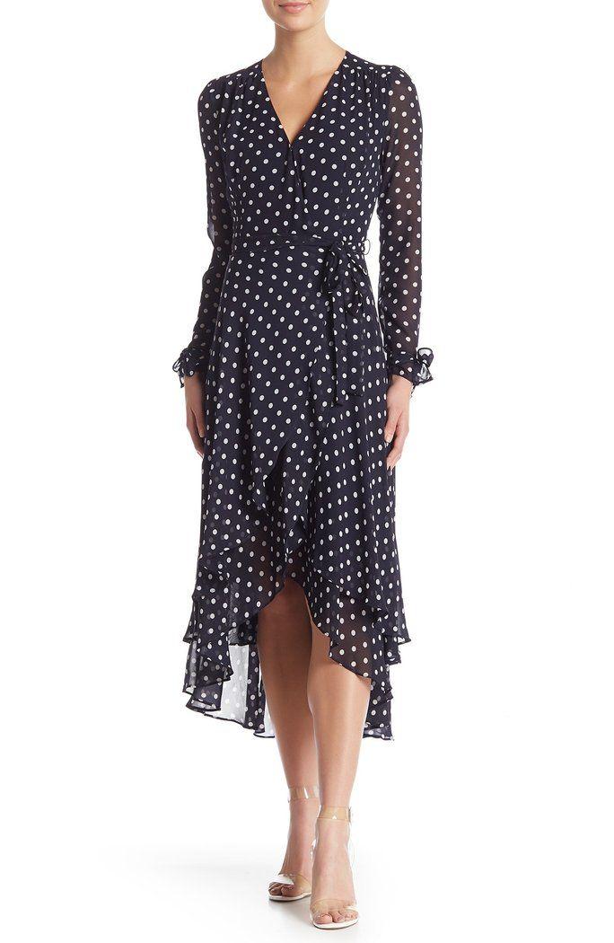 Betsey Johnson Womens Plus Size Vintage Bow Print Chiffon Dress