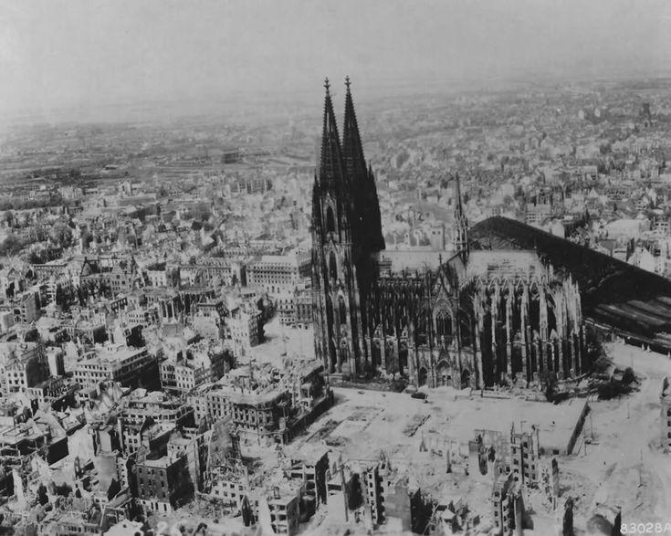 Bombed Koln Cologne 1945