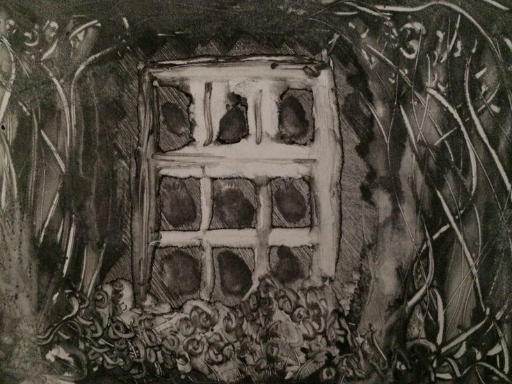 Jo Hannah. Window 5. Monoprint.