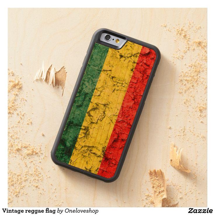 #rastaflag #reggae #bobmarley #greenyellowred Vintage reggae flag carved® cherry iPhone 6 bumper