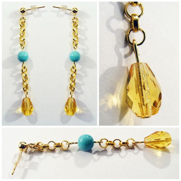 Jean Genie: These vibrant gold-tone earrings with turquoise and citrine details are great for summer festivals or boho beach days. For more easy breezy summer styles head to eleanorhalljewellery.com