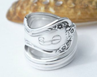 Lovely Personalized Ring SPOON RING Personalized by CaliforniaSpoonRings