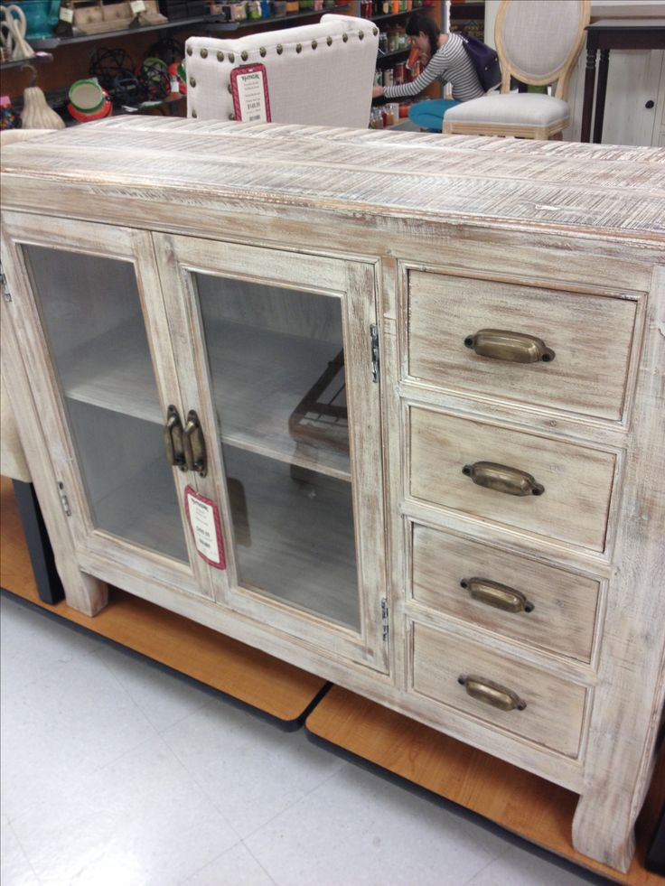 Distressed wood TV stand from TJ Maxx. In love!! | For the Home | Pinterest | TVs, In love and ...