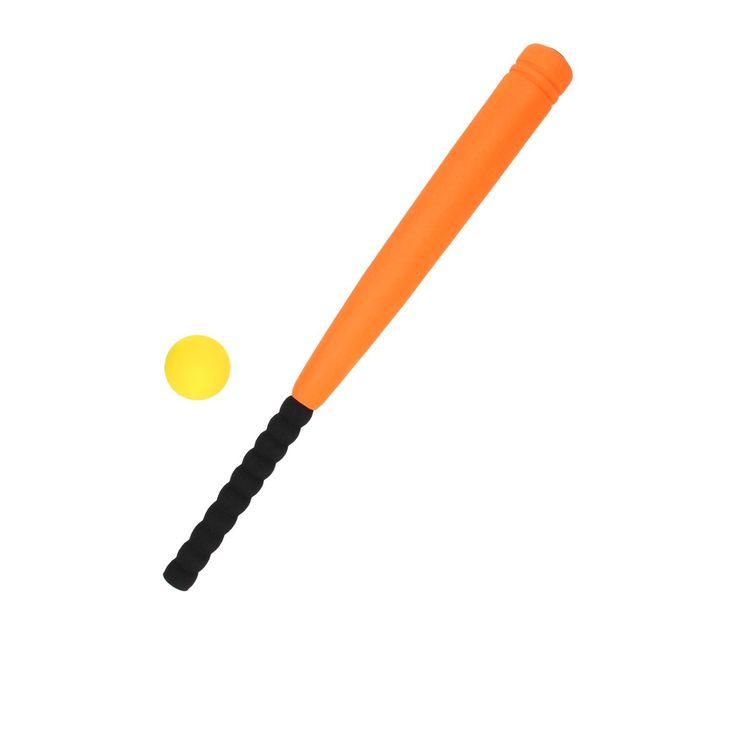 Speel een potje honkbal met je vrienden! In de tuin, in het park of zelfs op het strand! De knuppel en de bal kunnen ook in het water. Ze zijn gemaakt van hard foam, hierdoor kun je nog verder slaan. Zouden je vriendjes de bal nog kunnen vangen? Er zijn verschillende kleuren knuppels, deze kleuren worden gevarieerd geleverd. Afmeting: 70 x 5,5 x 5,5 cm Geschikt voor: Vanaf 5 jaar  - Honkbalset Zacht