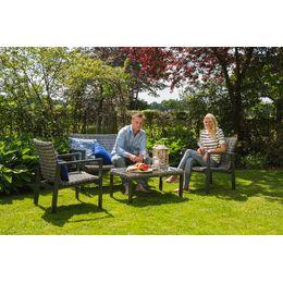 Deze Santa Marta loungeset van Hartman past perfect in een moderne landelijke tuin. Heerlijk borrelen, bijkletsen en genieten van het mooie buitenleven...