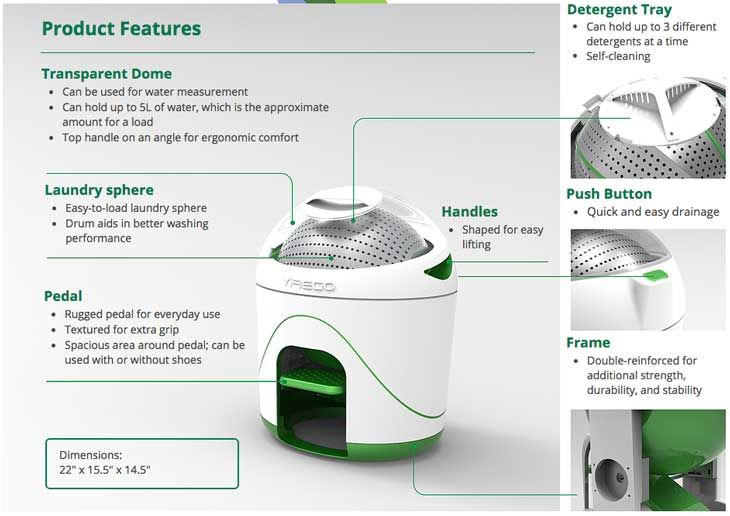 A New Foot-Powered Washing Machine To Clean Your Clothes Off Grid