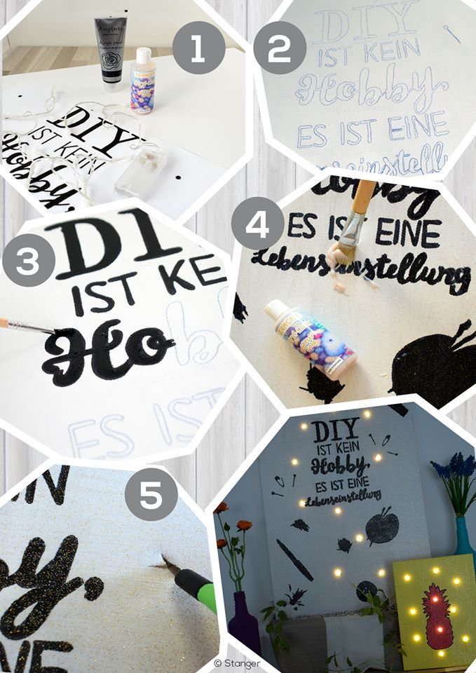 DIY keilrahmen mit Beleuchtung | simple DIY | present for christmas, birthday, mothers day