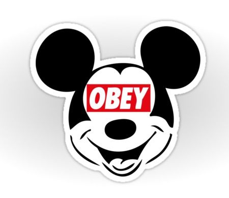 OBEY Mickey Mouse, by Iber, via www.Redbubble.com | jaime ...