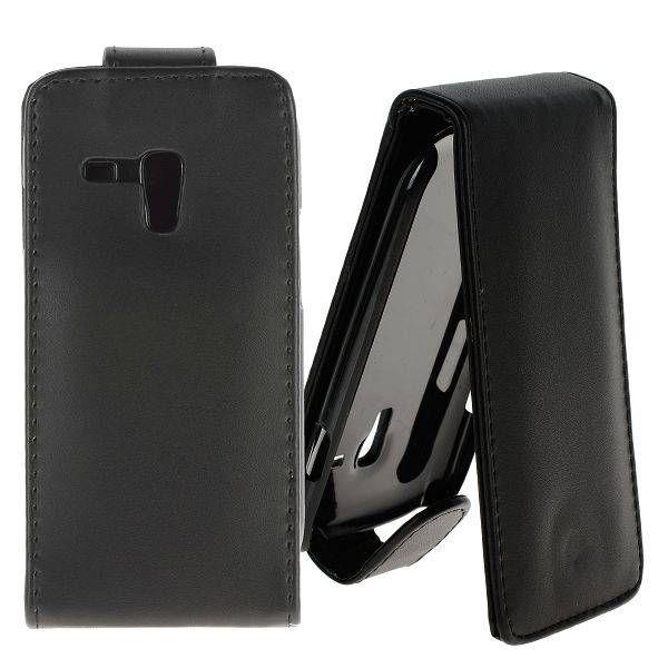 Flipcase hoesje zwart voor de Samsung Galaxy S3 mini