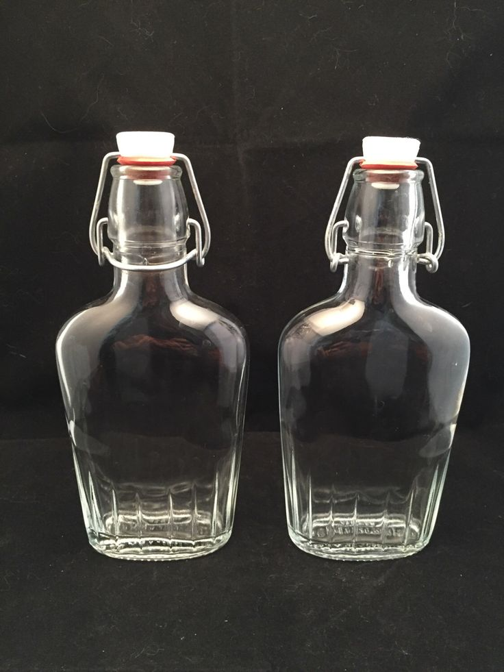 Italian Glass Bottles With Stoppers Vintage Barware