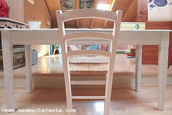 tavolo restaurato shabby