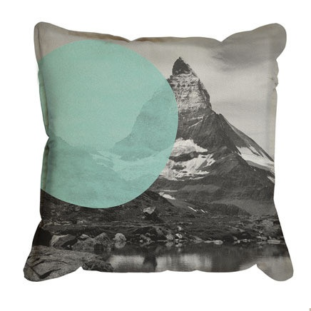 Pony Rider - Swiss Alps Cushion Cover: Cushion Covers, Ponies Rider, Minti Green, Cushions Covers, Swiss Alps, Throw Pillows, Alps Cushions, Sofas Pillows, Mint Pillows