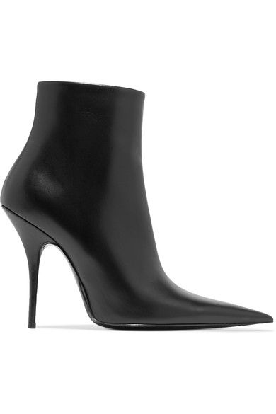 Balenciaga | Leather ankle boots | NET-A-PORTER.COM