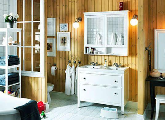 Dresser repurposed as a double sink bathroom vanity for Bobs furniture bathroom vanity