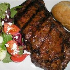 """""""Best Steak Marinade in Existence"""" according to Allrecipes.com.  Tried this last night with a cheap cut of steak and it made it taste like an expensive restaurant steak - super tasty and very tender!  I marinaded the meat for 2 hours and added butter on top of the steak after cooking, but that was it!"""