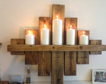Oak Wall Sconces For Candles : 17 best images about Random / Ideas on Pinterest Toothbrush holders, Braided rugs and Stencils