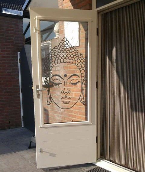 Boeddha hoofd muursticker raamsticker