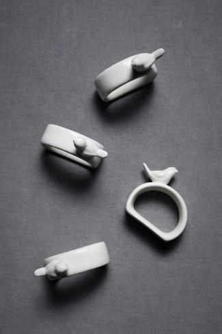 sparrow napkin rings - liz