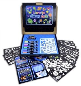"""Kahootz: Lite Brite Magic Art Studio Some cardboard, paper, markers and a small black light is included in the set.  Fun family activity.  Have a blast coloring and then going into a dark room to see the """"glow"""". http://awsomegadgetsandtoysforgirlsandboys.com/kahootz/ Kahootz: Lite Brite Magic Art Studio"""