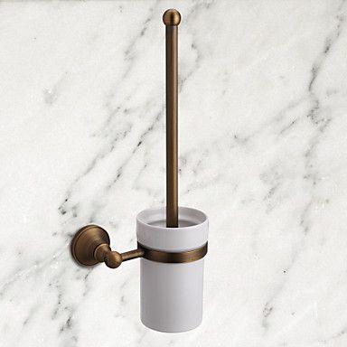 [BlackFridaySale]antika pirinç duvara monte tuvalet fırçası tutucu banyo aksesuar (1018-j-29-9) – USD $ 34.99