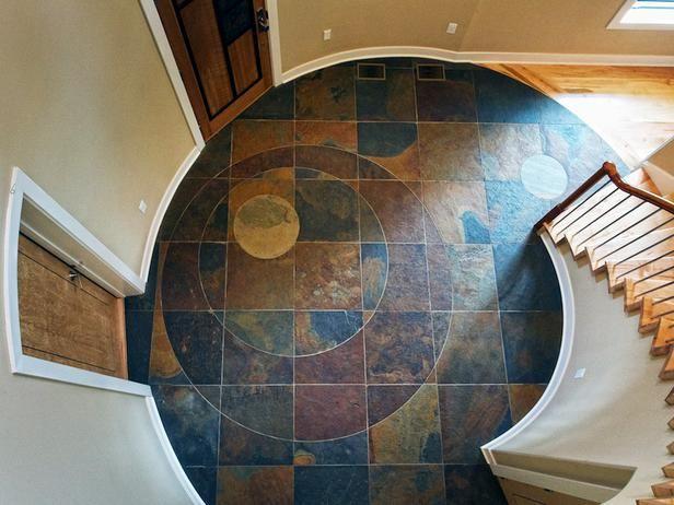 Foyer Tile Quotes : Neat circular tiled entry entryways pinterest