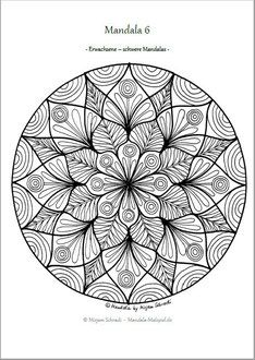 Mandalas Zum Ausdrucken Für Erwachsene Ausmalbilder Vorlage Mandala