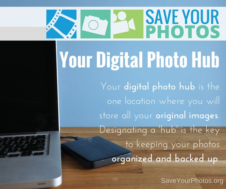 The first step when organizing your digital photos is to create a central storage location, otherwise know as a digital photo hub. #saveyourphotos