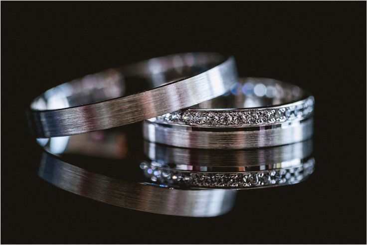 White gold diamond wedding rings couples bands  #ido #gettingmarried  #wedding #bride #grom #enlopement #engaged #weddingplanner | Nika and Grega destination wedding photographers