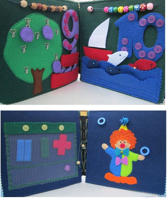 Children's Book Busy Book Interactive Book Textile by SuperTextile