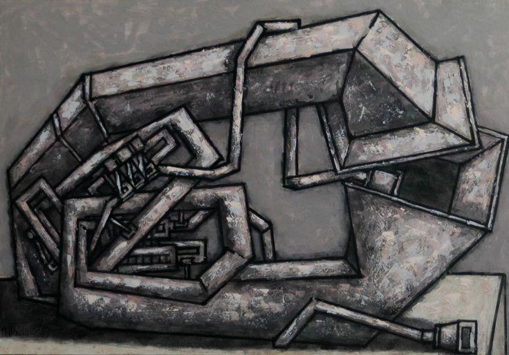 """two lovers tube - size 39""""x28"""" (100x70сm) - Картина,  100x70 cm ©2016 - DMITRIY TRUBIN -                                                                                                        Абстрактное искусство, Абстрактный экспрессионизм, Современная живопись, Геометральный, Интерьеры , Любовь / Романтика, Музыка, туба, трубин, современная живопись, трубин художник"""