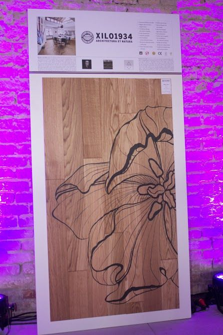 "Ronald Van Der Hilst's ""Tulipae maior"": designe parquet produced by XILO1934. Presented  during the ""design party night""  in Budapest. April23,  2015."