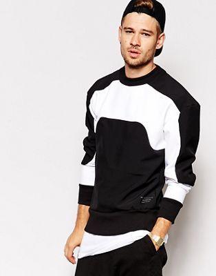 Selected Neoprene Sweatshirt With Panel