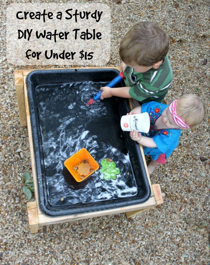 make a diy water table for less than 15