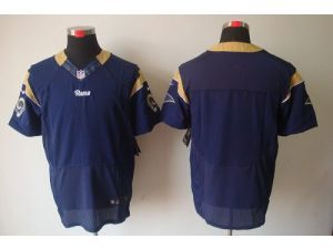 nike rams blank navy blue team color mens stitched nfl elite jersey