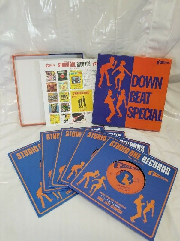 """RARE Soul Jazz Records Down Beat Special Vinyl 7"""" Boxset 1 of 500 COLLECTABLE  #SoulJazz"""