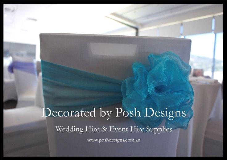 #lightblueorganzasashes - #wedding #theming available at #poshdesignsweddings - #sydneyweddings #southcoastweddings #wollongongweddings #canberraweddings #southernhighlandsweddings #campbelltownweddings #penrithweddings #bathurstweddings #illawarraweddings  All stock owned by Posh Designs Wedding & Event Supplies – lisa@poshdesigns.com.au or visit www.poshdesigns.com.au or www.facebook.com/.poshdesigns.com.au #Wedding #reception #decorations #Outdoor #ceremony decorations