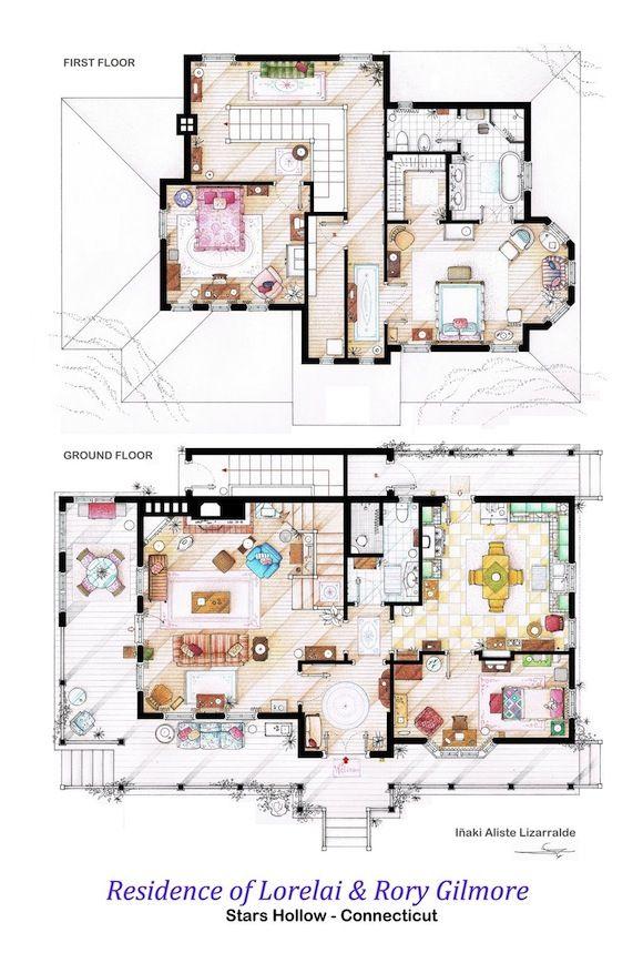 Szívek szállodája - Rory és Lorelai háza