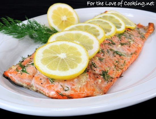Salmon with Garlic, Lemon, and Dill | Food & Recipes | Pinterest