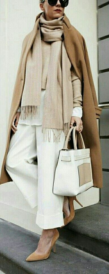 SMART CASUAL[winter]: camel, beige and white