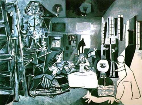 "Pablo Picasso  Las Meninas (Group) 1957  oil on canvas  approx. 6'4"" by 8'6""   Museo Picasso, Barcelona"