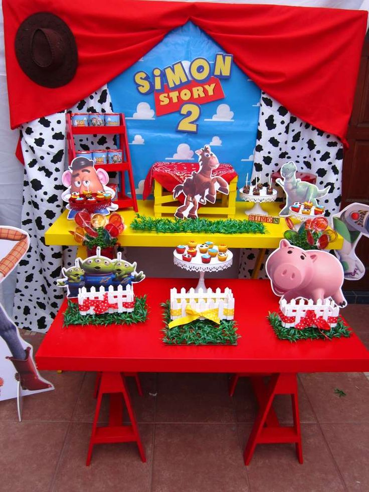 Incredible Toy Story birthday party! See more party ideas at CatchMyParty.com!